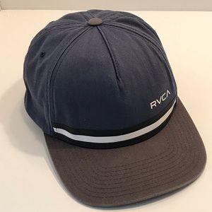 RVCA Blue/Gray Stripe Detail Snapback Baseball Hat